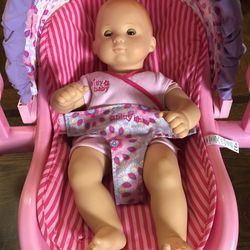 American Girl Doll Bitty Baby And Carrier for Sale in Palo Alto,  CA