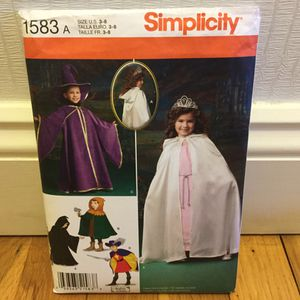 Simplicity Children's Costume Pattern for Sale in Peabody, MA