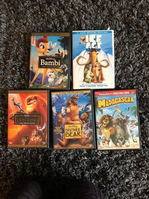 9 DVD ANIMAL DVD MOVIE PACKAGE for Sale in Naperville, IL