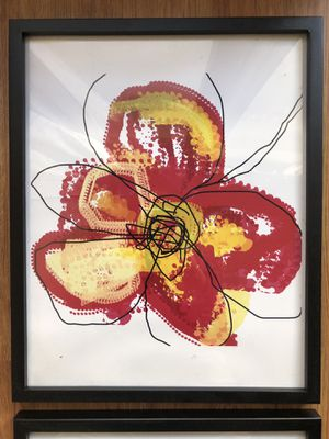 Abstract flower art wall hangings (set of 3) for Sale in San Francisco, CA