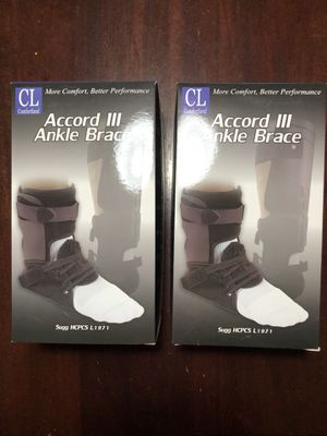 2 ankle foot support braces adjustable brand new in box- read labels for use and fitting - see pictures for therapeutic use info for Sale in Orlando, FL