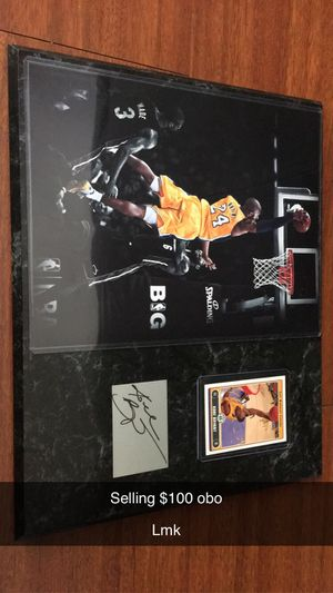 Kobe plaque for Sale in Fort Worth, TX
