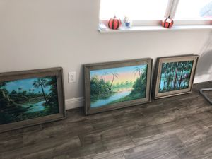 GARY BOSWELL PAINTING ORIGINAL SIGNED ONE OF A KIND FLORIDA PAINTING for Sale in Vero Beach, FL