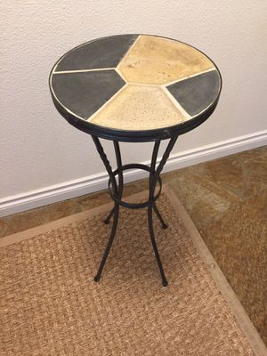 Indoor/outdoor wrought iron slate tile top table/plant stand for Sale in Tacoma, WA