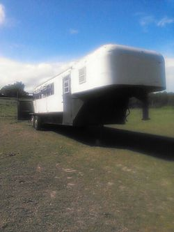 MAKE OFFER!!! Stock trailer w tack room for Sale in Pickens,  SC
