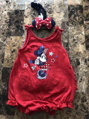 Infant Toddler Minnie Mouse Romper 12M for Sale in North Las Vegas, NV