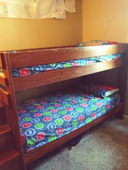 Wooden bunk bed with steps for Sale in St. Peters,  MO