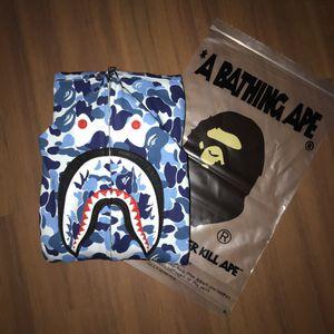 Bape A Bathing Ape Blue ABC Camo Full Zip Shark Hoodie for Sale in Boston, MA
