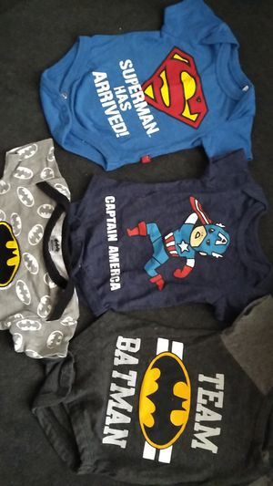 Super heroes onesies & mommy's little camper for Sale in Pomona, CA
