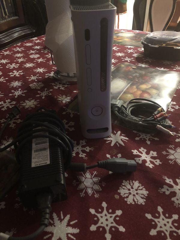Xbox 360 with cables / power cable and component HD AV Cable