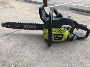 "Ryobi gas chainsaw 16"" / 37CC / 2018 RY3716 for Sale in Austin, TX"