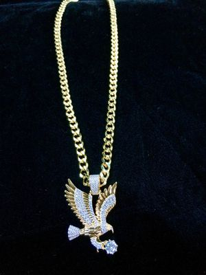 EAGLE FULL DIAMONDS CZ 18K GOLD CHAIN MADE IN ITALY for Sale in North Bay Village, FL