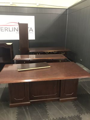 Office furniture. 3 desks. Credenza. File cabinets. Make an offer for Sale in Dallas, TX