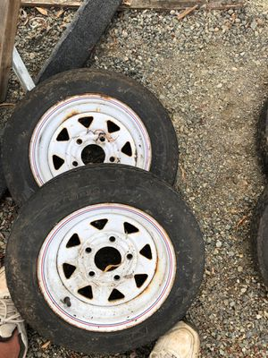 TRAILER WHEELS +TIRES 4.80-12 PAIR for Sale in Kent, WA