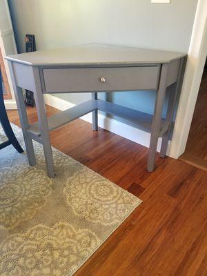 Grey corner desk for Sale in Lincoln, RI