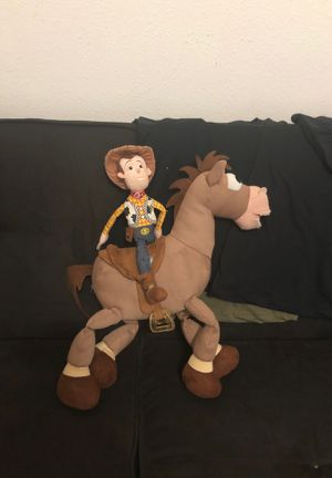 Toy story Woody and bullseye plushies for Sale in Gibsonton, FL
