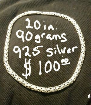 925 silver 90 grams 20in. $100 for Sale in Austin, TX