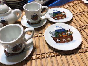 Little tea set no lid on coffee pot for Sale in Sterling, KS