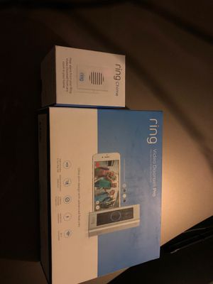 Ring video doorbell pro + ring chrime new seal for Sale in San Jose, CA