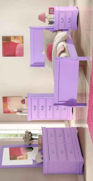 Louis Philipe Purple Sleigh Youth Bedroom Set for Sale in Hyattsville, MD