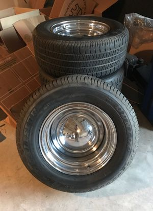 Set of 4 old school smoothy wheels and tires. for Sale in Fresno, CA