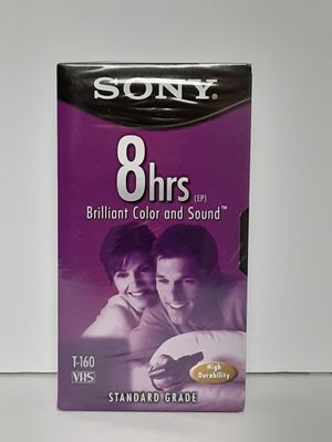 Sony VHS Tape Blank Premium Grade T-160 8HR VCR Video Cassette Tape NEW for Sale in Brooks, OR