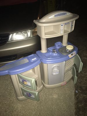 Kids play kitchen with pots and pots only 25 for Sale in Severn, MD
