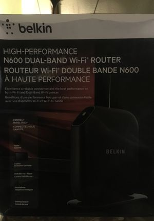 Belkin Dual Band Router $20 for Sale in Houston, TX