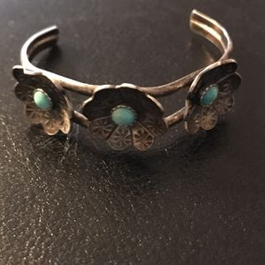 Small Children's Cuff Sterling Silver And Turquoise for Sale in Jay, OK