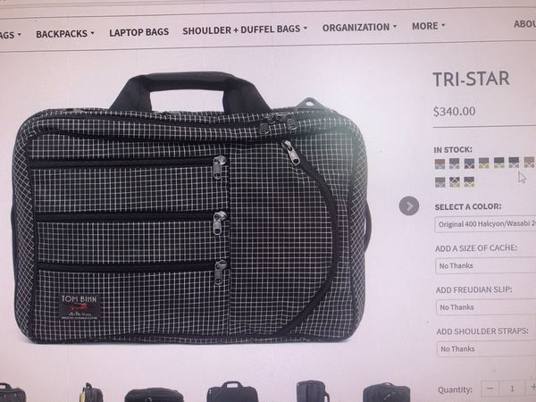 Tom Bihn TRI-STAR travel backpack