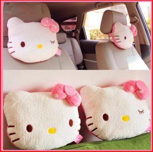 2Pcs Pink Hello Kitty Car Pillow Baby Car Headrest Neck Pillow Cartoon Plush Kids Child Car Headrest Car Seat Pillow Accessories for Sale in Blue Ridge, TX