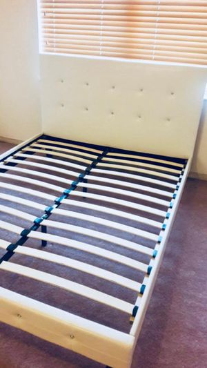 NEW QUEEN SIZE BED FRAME MATTRESS SOLD SEPERATELY AVAILABLE FOR DELIVERY for Sale in Miami Springs, FL