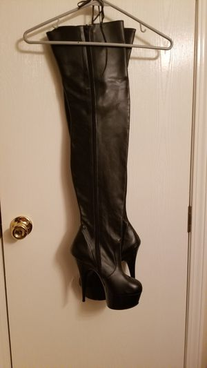 Genuine leather thigh high boots for Sale in Riverview, FL