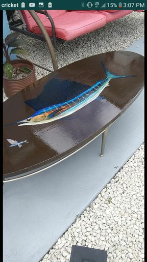 Fishing boating coffee table patio table boat marine nautical beach for Sale in Port St. Lucie, FL