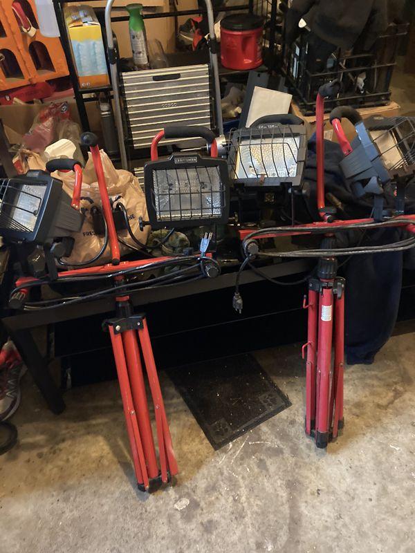 craftsman duel worklight tripods