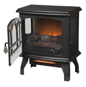 Electric fireplace 1,000 sq. ft. Panoramic Infrared Electric Stove in Black with Electronic Thermostat - brand new in the box for Sale in Dallas, TX