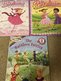 Pinkalicious AND Rainbow Fairies Set Of 3 Books for Sale in Smyrna,  TN