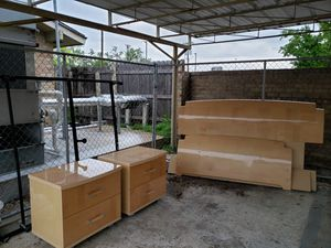 Bed frame and night stands for Sale in Dallas, TX