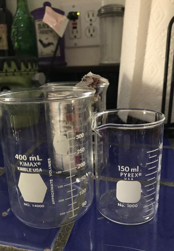 Pyrex beakers