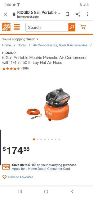 6 Gallon Compressor with Hose for Sale in Redlands, CA