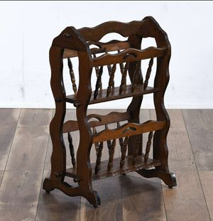 ANTIQUE AMERICAN COLONIAL TURNED WALNUT MAGAZINE RACK for Sale in Monrovia, CA