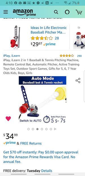 iPlay, iLearn 2 in 1 Baseball & Tennis Pitching Machine for Sale in Temple Hills, MD