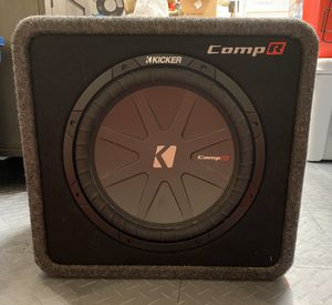 """Kicker 12"""" subwoofer with box and amp for Sale in Stuart, FL"""