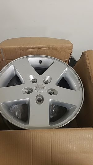 "OEM 17"" Jeep Wranger wheels (Set of 5) for Sale in Austin, TX"
