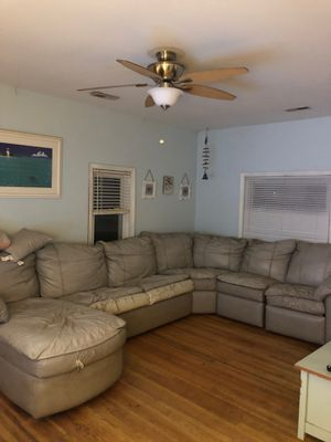 !FREE -GRAY LEATHER SECTIONAL SOFA -FREE! for Sale in Crownsville, MD