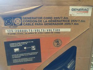 Generator cord for Sale in Galesburg, MI