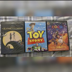 Disney DVD's- Toy Story, The Nightmare Before Christmas, Coco for Sale in Grand Prairie, TX