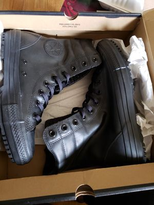 ●PICK UP BELL GARDENS●NEW BLACK RUBBER HI RISE CONVERSE BOOTS SIZE 9 WOMEN/FITS MEN 7.5 for Sale in Bell Gardens, CA