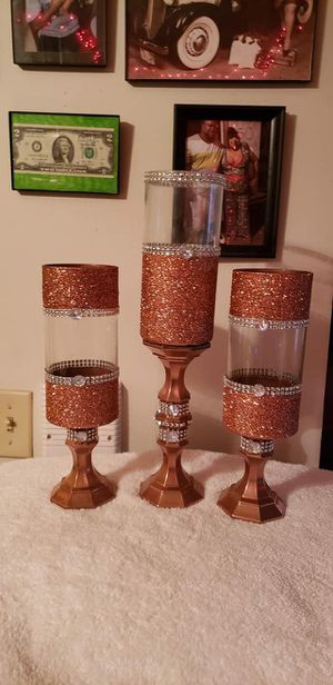 Custom vase and candle holders for Sale in St. Louis, MO