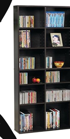 New!! Bookcase, bookshelves, storage unit, adjustable shelves media organizer, organizer, videos storage unit, living room furniture for Sale in Phoenix, AZ